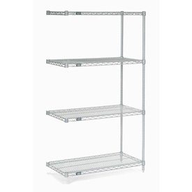 "54""H Nexel Chrome Wire Shelving Add-On - 36""W X 18""D"