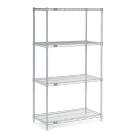 "54""H Nexel Chrome Wire Shelving - 42""W X 24""D"