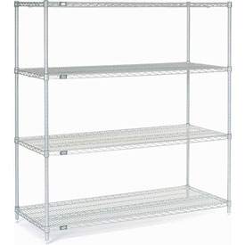 "54""H Nexel Chrome Wire Shelving - 60""W X 24""D"