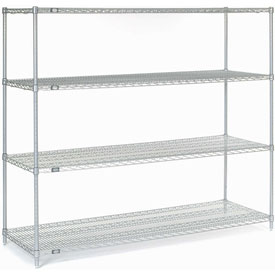 "54""H Nexel Chrome Wire Shelving - 72""W X 24""D"