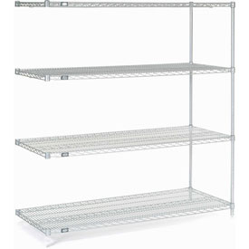 "54""H Nexel Chrome Wire Shelving - 72""W X 30""D"