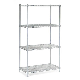"63""H Nexel Chrome Wire Shelving - 30""W X 14""D"