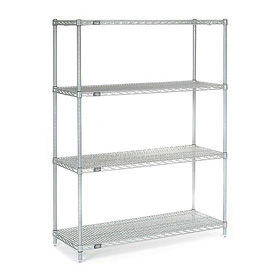 "63""H Nexel Chrome Wire Shelving - 42""W X 14""D"