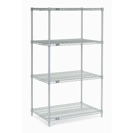 "63""H Nexel Chrome Wire Shelving - 24""W X 18""D"