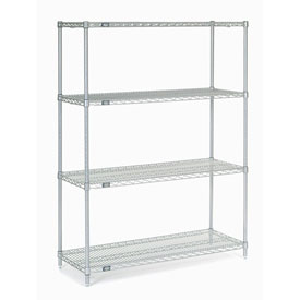 "63""H Nexel Chrome Wire Shelving - 42""W X 18""D"