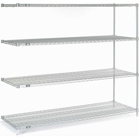 "63""H Nexel Chrome Wire Shelving Add-On - 54""W X 18""D"