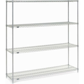 "74""H Nexel Chrome Wire Shelving - 54""W X 14""D"
