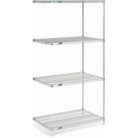 "74""H Nexel Chrome Wire Shelving Add-On - 24""W X 18""D"