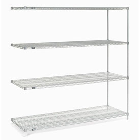 "74""H Nexel Chrome Wire Shelving Add-On - 54""W X 18""D"