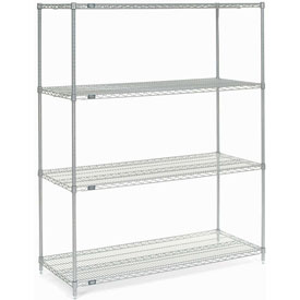 "74""H Nexel Chrome Wire Shelving - 54""W X 24""D"