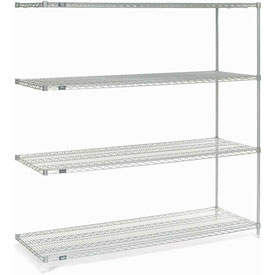 "86""H Nexel Chrome Wire Shelving Add-On - 42""W X 14""D"