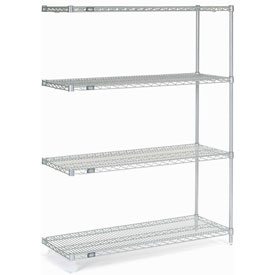 "63""H Nexel Chrome Wire Shelving Add-On - 48""W X 18""D"