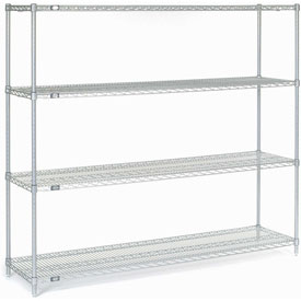 "63""H Nexel Chrome Wire Shelving - 72""W X 18""D"