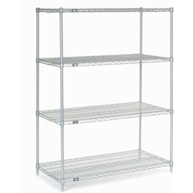 "63""H Nexel Chrome Wire Shelving - 48""W X 24""D, NSF Certified"
