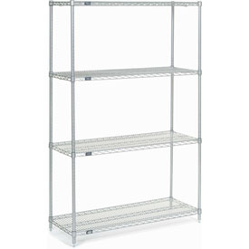 "74""H Nexel Chrome Wire Shelving - 48""W X 18""D"