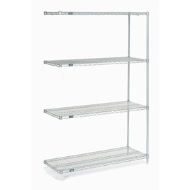 "86""H Nexel Chrome Wire Shelving Add-On - 48""W X 18""D"