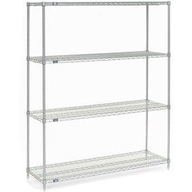 "86""H Nexel Chrome Wire Shelving - 60""W X 18""D"