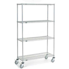 Nexel® Chrome Wire Shelf Truck 48x18x80 1200 Pound Capacity