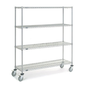 Nexel® Chrome Wire Shelf Truck 60x18x69 1200 Pound Capacity