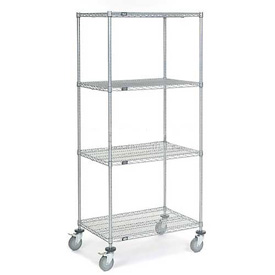 Nexel® Chrome Wire Shelf Truck 36x24x80 1200 Pound Capacity