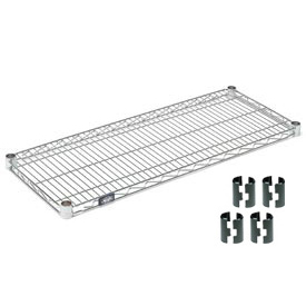 Chrome Wire Shelf 36 x 18 with Clips