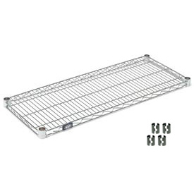 Chrome Wire Shelf 42 x 18 with Clips