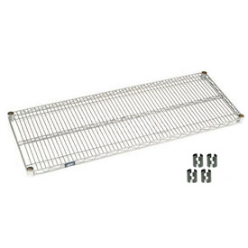 "Nexel S2442C Chrome Wire Shelf 42""W x 24""D with Clips"