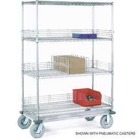 Nexel® Chrome Wire Shelf Truck 36x24x72 1200 Pound Capacity