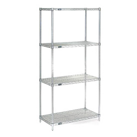 "Nexel Poly-Z-Brite Wire Shelving 36""W X 18""D X 74""H"