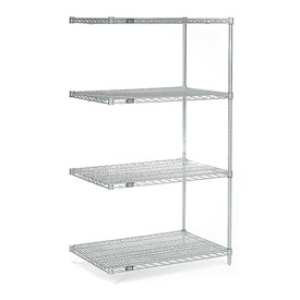 "Nexel Poly-Z-Brite Wire Shelving Add-On 24""W X 18""D X 63""H"