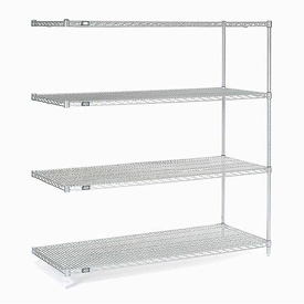 "Nexel Poly-Z-Brite Wire Shelving Add-On 42""W X 18""D X 63""H"