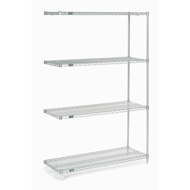 "Nexel Poly-Z-Brite Wire Shelving Add-On 42""W x 21""D x 74""H"