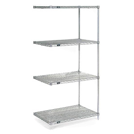 "Nexel Poly-Z-Brite Wire Shelving Add-On 30""W X 24""D X 74""H"