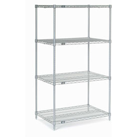 "Nexel Stainless Steel Wire Shelving 36""W X 24""D X 63""H"