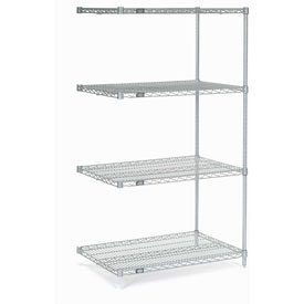 "Nexel Stainless Steel Wire Shelving Add-On 36""W X 24""D X 63""H"