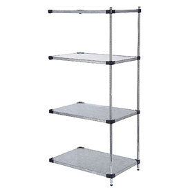 36x24x63 Galvanized Steel Solid Shelving Add-On