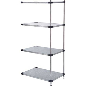 60x18x74 Galvanized Steel Solid Shelving Add-On