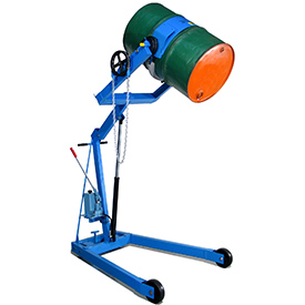 "Morse® Mobile Drum Lift and Tilt 400A72 72"" High Dispensing for 55 Gal Drum"