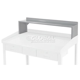 "Riser Shelf for 48""W Shop Desk - Blue - Gray"