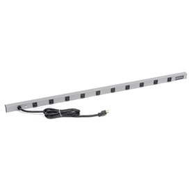 Wiremold 4810ULBD 48-in 10 Outlet Power Strip With 15-ft Cord