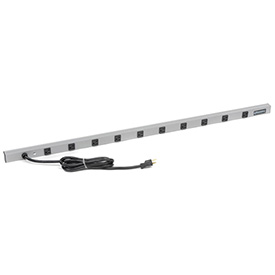 Wiremold 4810ULBD20R 48-in 10 Outlet Power Strip with 15-ft Cord, 20Amp