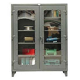 Strong Hold® Heavy Duty Clearview Storage Cabinet 46-LD-244G - 48x24x78