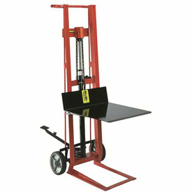 Wesco® Foot Pedal Platform Lift Truck 260001 Two Wheel Style 750 Lb. Cap.