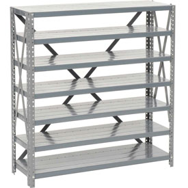 Steel Open Shelving 7 Shelves No Bin - 36x12x39