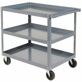 "Edsal HDC3018-3 3 Shelf Steel Stock Cart 30""L x 18""W 800 Lb. Capacity"