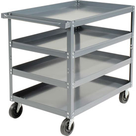 Edsal HDC3624-4 4 Shelf Steel Stock Cart 36 x 24