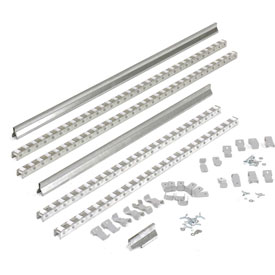 Gravity Carton Flow Roller Track Kit 96""
