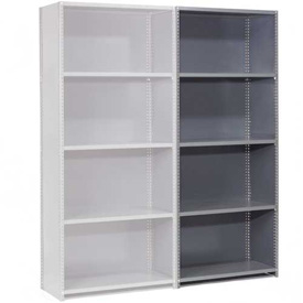"Steel Shelving 20 Ga 36""Wx12""Dx85""H Closed Clip Style 5 Shelf Add-On"