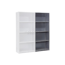 "Steel Shelving 20 Ga 36""Wx18""Dx85""H Closed Clip Style 5 Shelf Add-On"