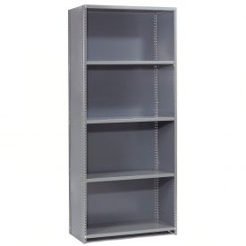 "Steel Shelving 20 Ga 48""Wx12""Dx85""H Closed Clip Style 5 Shelf Starter"